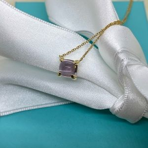Tiffany & Co. 18k Amethyst Sugar Stack Necklace